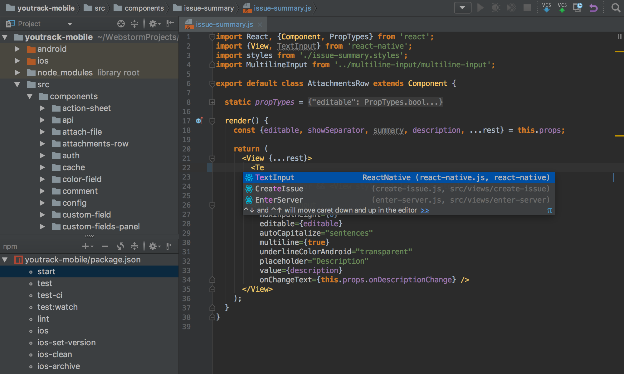 WebStorm windows