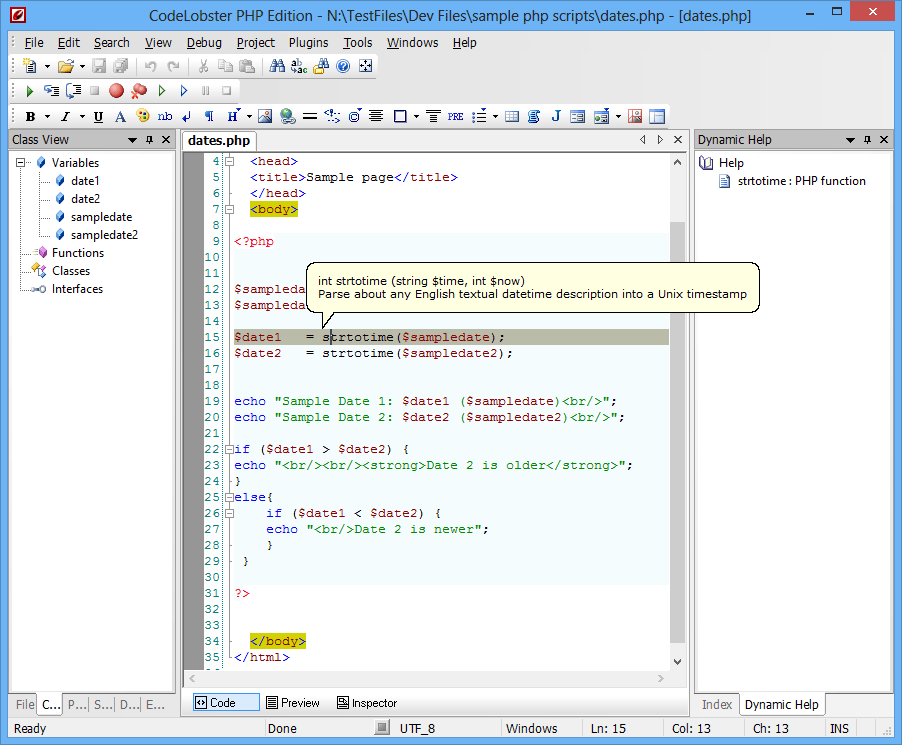 CodeLobster PHP Edition latest version