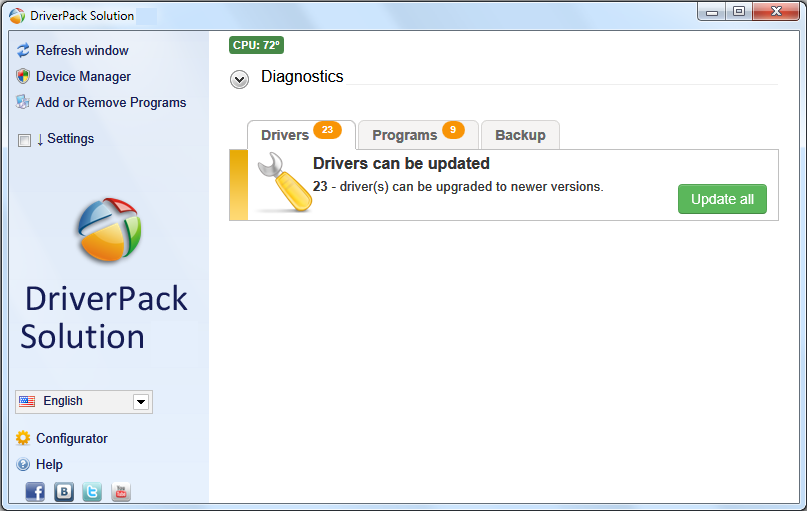 DriverPack Solution windows