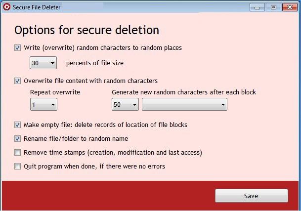 Secure File Deleter latest version
