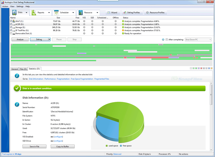 Auslogics Disk Defrag Pro latest version