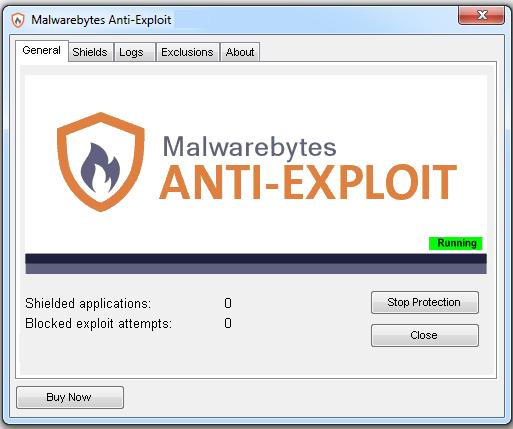Malwarebytes Anti-Exploit windows