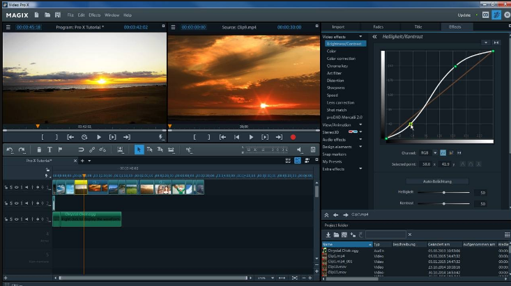 MAGIX Video Pro X windows