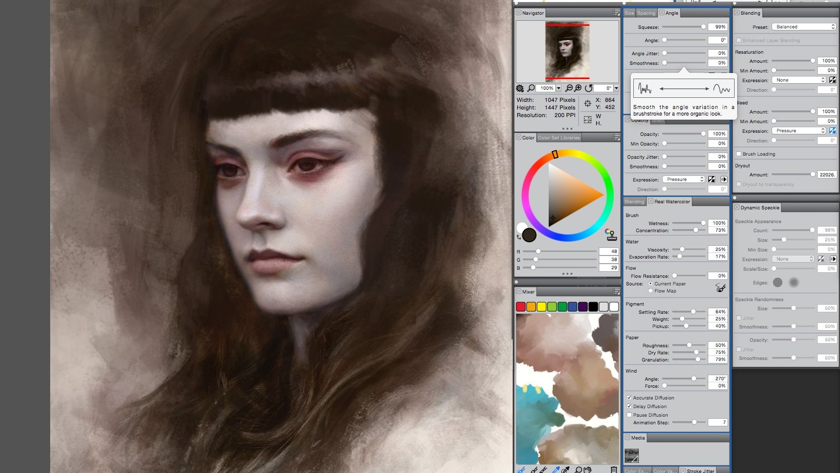 Corel Painter windows