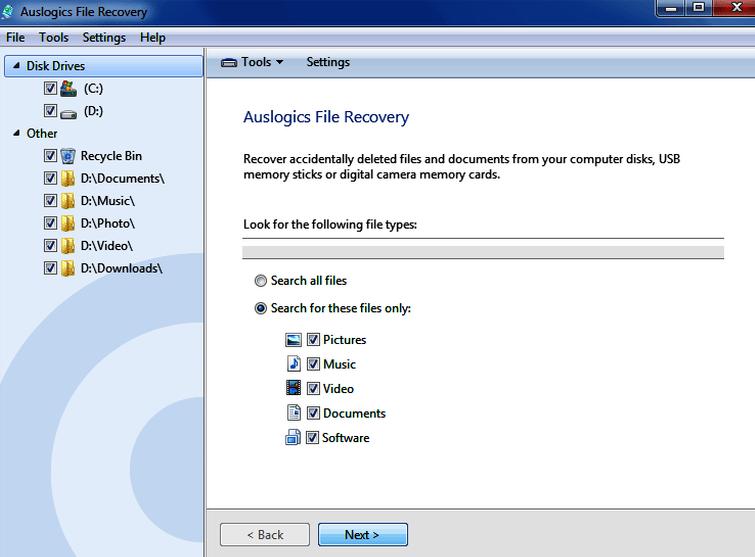 Auslogics File Recovery latest version