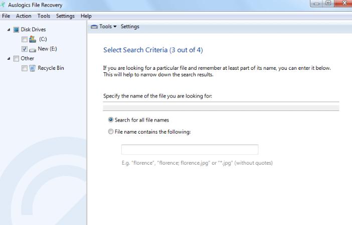 Auslogics File Recovery windows