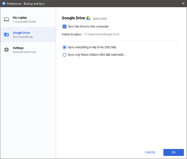 Google Backup and Sync latest version