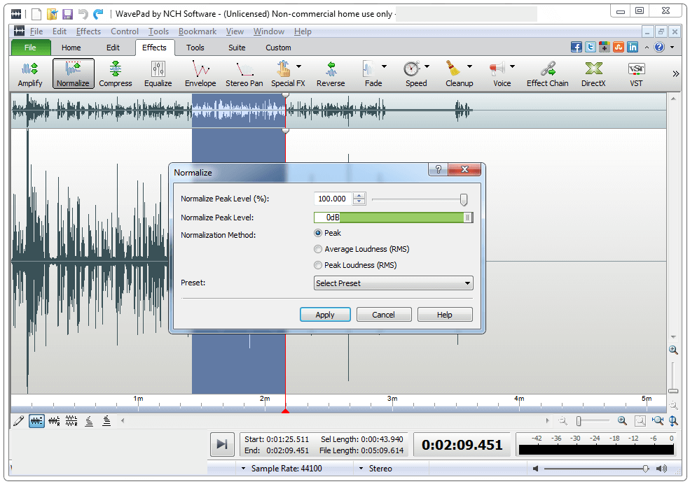 WavePad Sound Editor latest version
