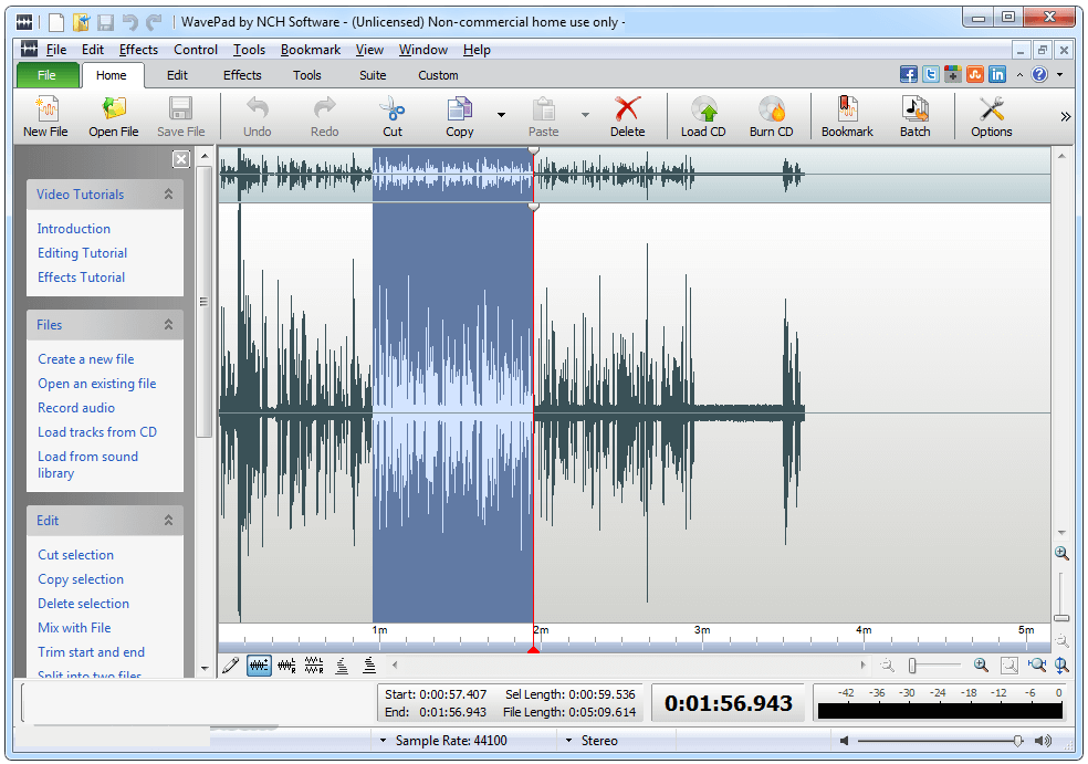 WavePad Sound Editor windows