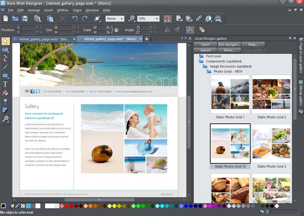 Xara Web Designer Premium windows