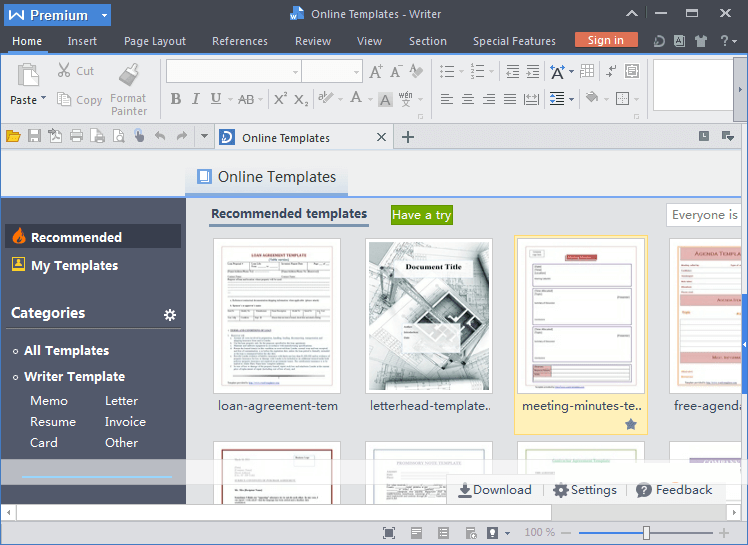 WPS Office Premium latest version