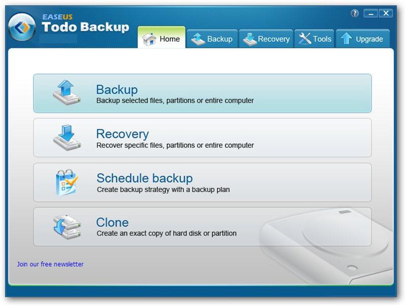 EaseUs Todo Backup windows