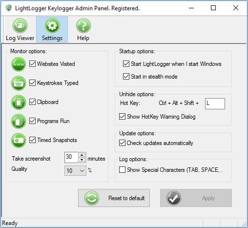 LightLogger Keylogger latest version