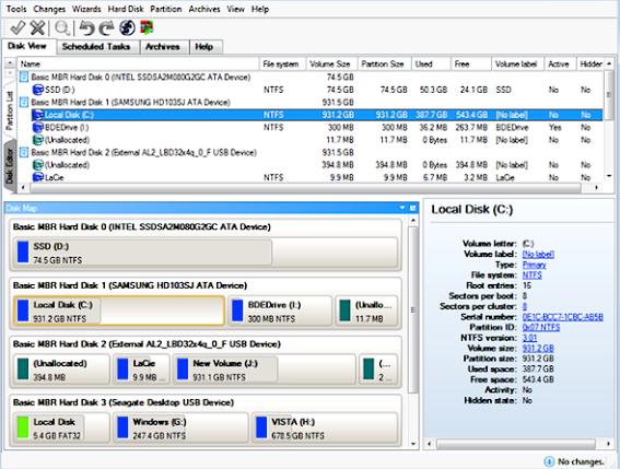 Paragon Hard Disk Manager windows