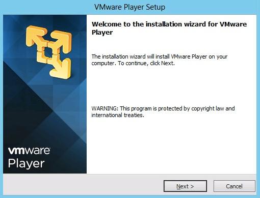 VMware Player windows
