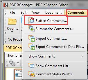 PDF XChange Editor windows