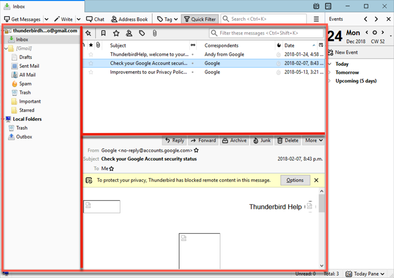 Mozilla Thunderbird latest version