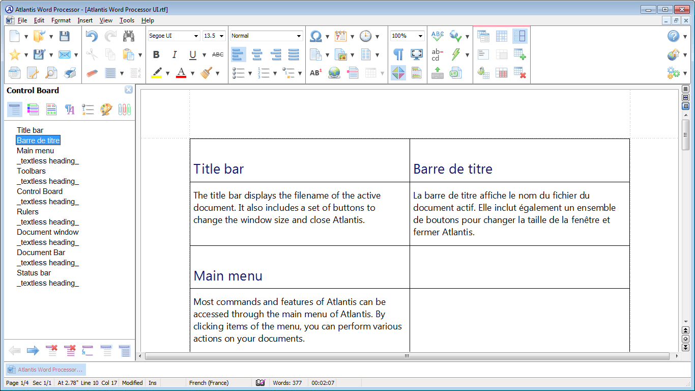 Atlantis Word Processor windows
