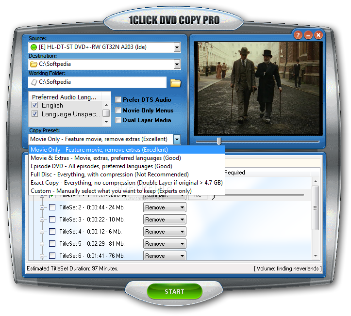 1Click Dvd Copy windows
