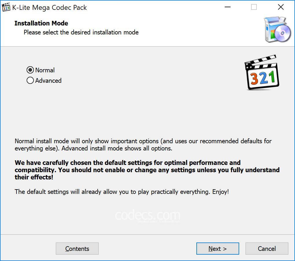 K-Lite Mega Codec Pack latest version