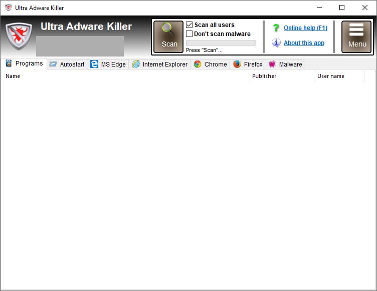 Ultra Adware Killer windows
