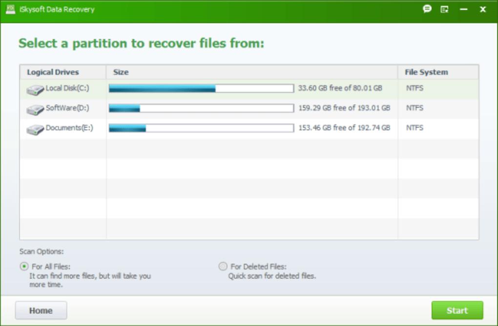 iSkysoft Data Recovery latest version