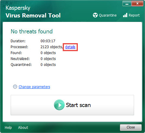 Kaspersky Virus Removal Tool latest version
