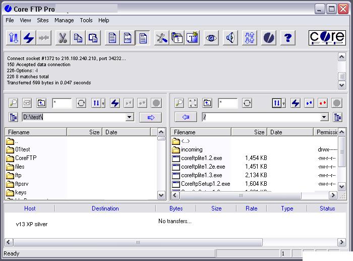 Core FTP Pro windows