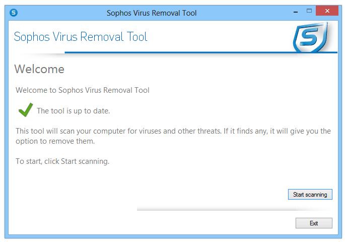 Sophos Virus Removal windows