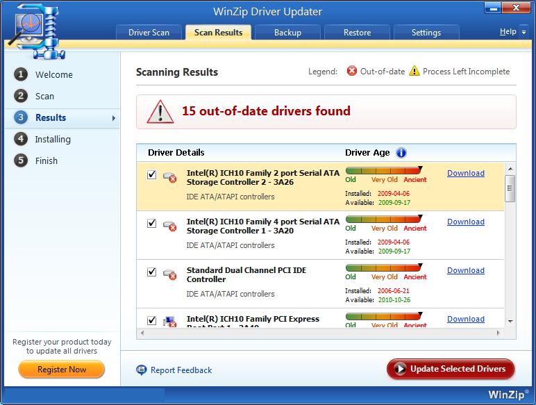 WinZip Driver Updater windows