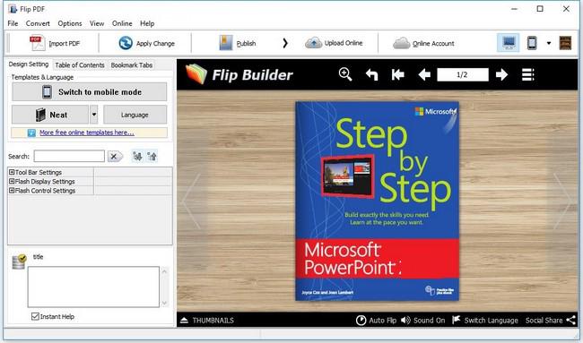 FlipBuilder Flip PDF Professional windows