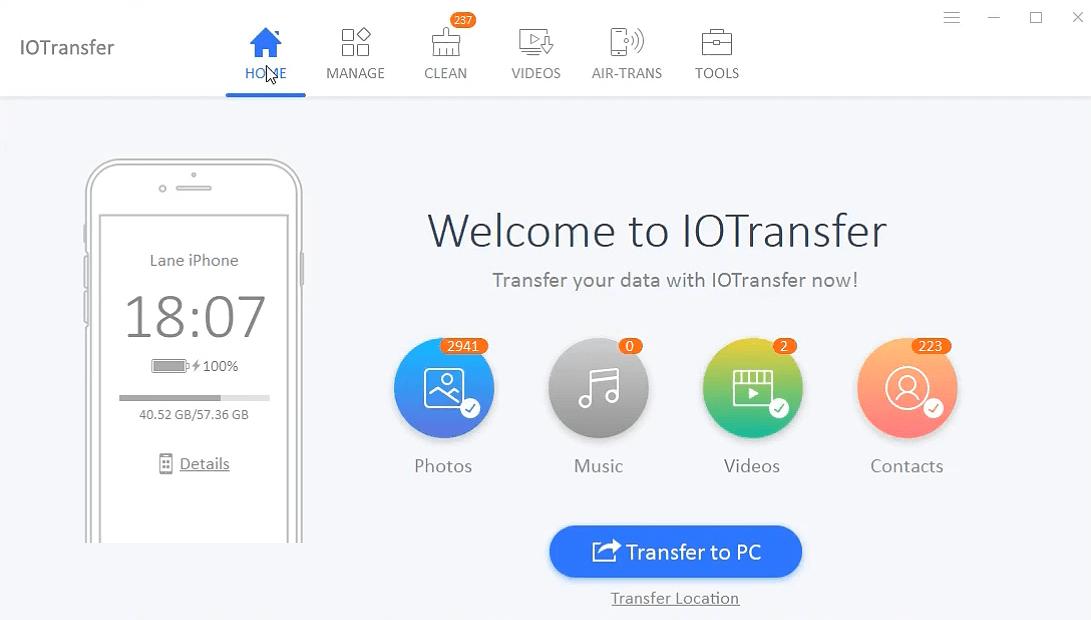 IOTransfer windows