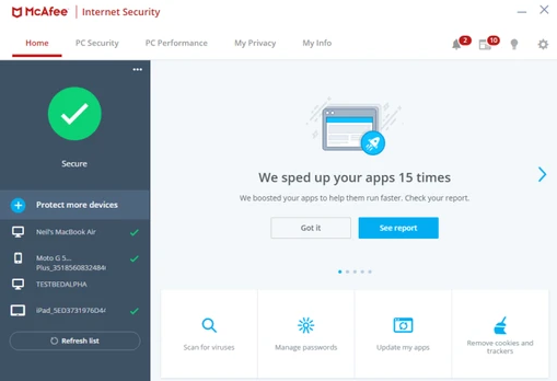 McAfee Internet Security latest version
