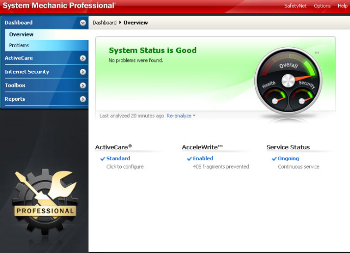 System Mechanic Professional windows