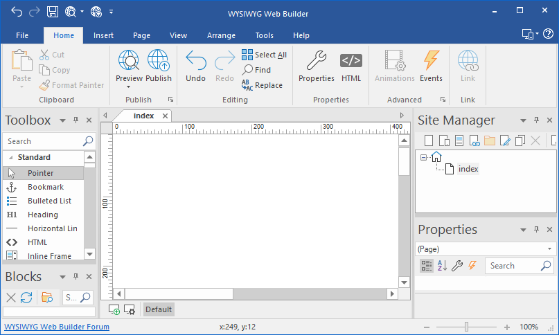 WYSIWYG Web Builder latest versio