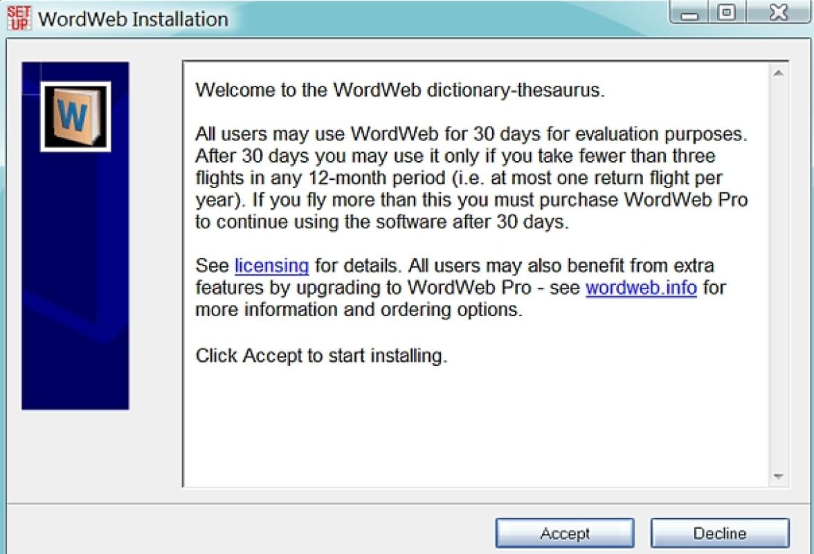 WordWeb latest version