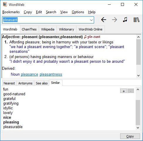 WordWeb windows