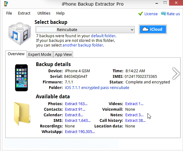iPhone Backup Extractor lwindows