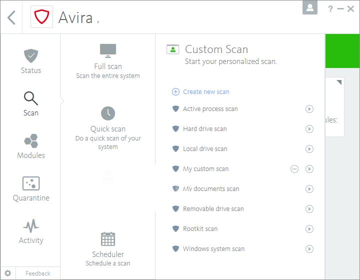 Avira Total Security windows