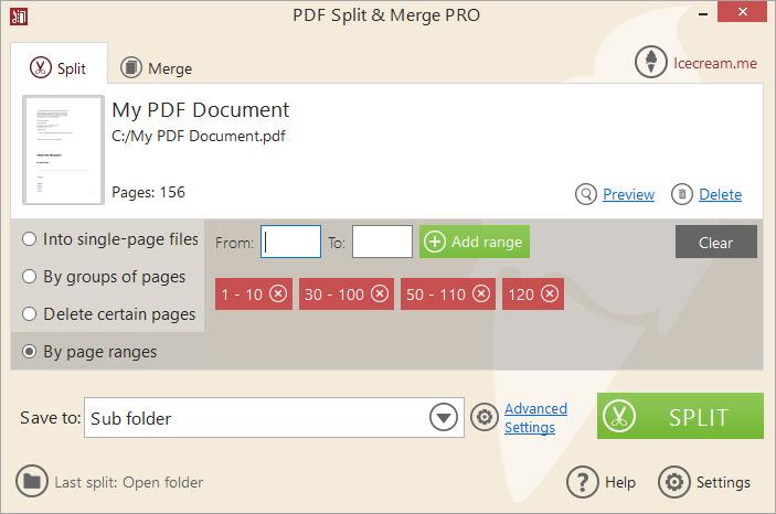 IceCream PDF Split & Merge latest version