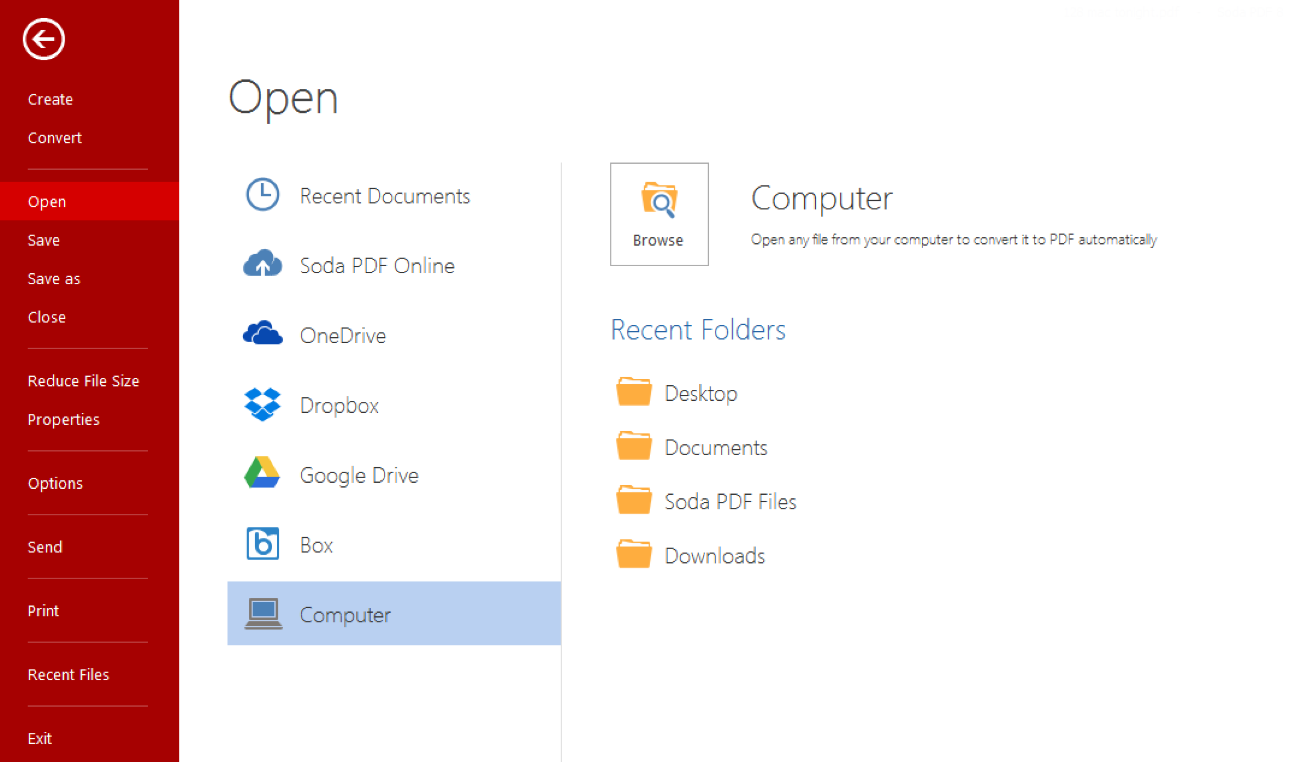 Soda PDF Desktop latest version