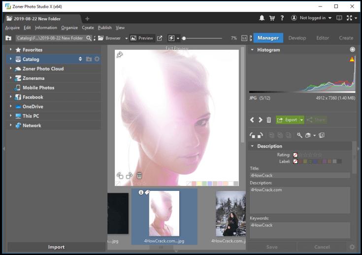 Zoner Photo Studio X latest version